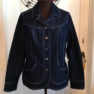 Cute Dark Wash Denim Blazer